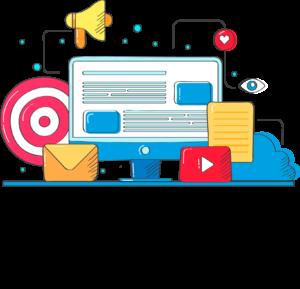 Youtube Marketing Vector